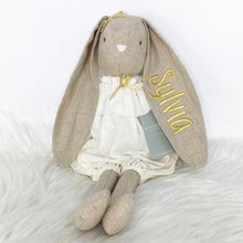 Load image into Gallery viewer, Personalised Alimrose Sadie Romper Ivory Bunny 40cm