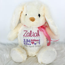 Load image into Gallery viewer, Personalised Cream Bunny Little Elska Stuffie