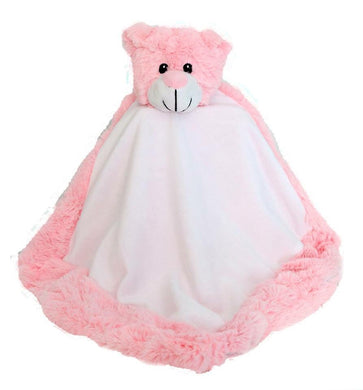 Personalised Pink Bear Blankie comforter soother