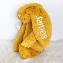 Load image into Gallery viewer, Personalised Jellycat Bashful Bunny - Saffron