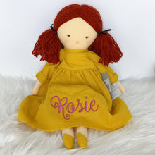 Load image into Gallery viewer, Personalised Alimrose Matilda Doll 45cm Butterscotch