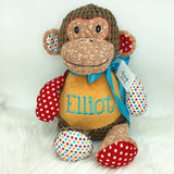 Personalised Brown Harlequin Monkey Cubby