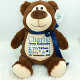 Personalised Brown Bear Cubby