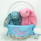 Personalised Willow Wicker Easter Basket - Blue