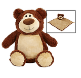 Personalised Brown Bear Cubby & Blankie Set