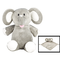 Personalised Elephant Cubby & Blankie Set