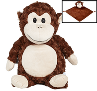 Personalised Monkey Cubby & Blankie Set