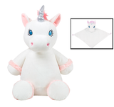 Personalised White Unicorn Cubby & Blankie Set