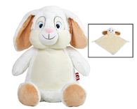 Personalised White Bunny Cubby & Blankie Set