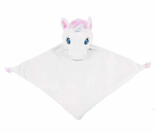 Personalised White Unicorn Blankie