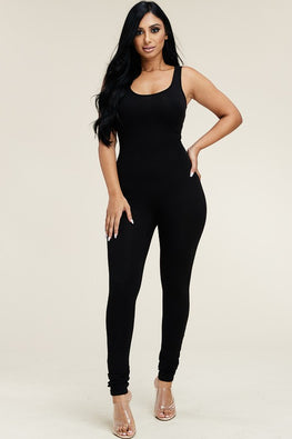 Basic Cotton Jumpsuit (PLUS) - Anew Couture