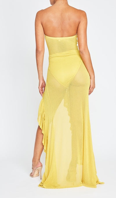 Metallic Open Knit Maxi Dress - Anew Couture