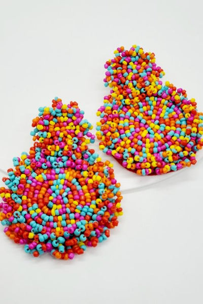Multicolored Seed Bead Earrings