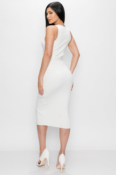 Off White Midi Dress - Anew Couture