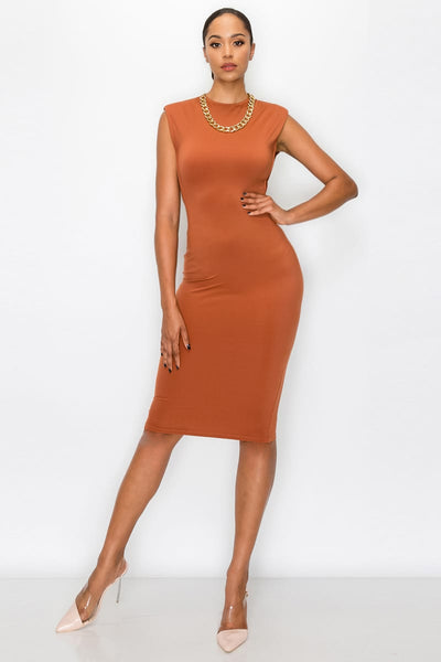 Sleeveless Bodycon Midi