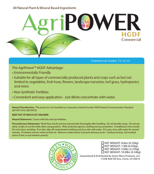 AgriPOWER® HGDF (Holy Grail Dry Formula) All Natural Fertilizer - Green Wave Products, LLC