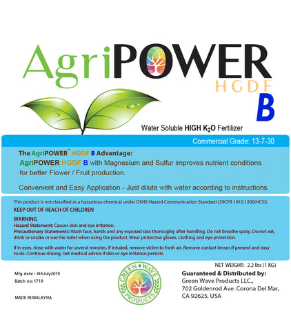 AgriPOWER® HGDF-B (Holy Grail Dry Formula BLOOM) All Natural Fertilizer - Green Wave Products, LLC