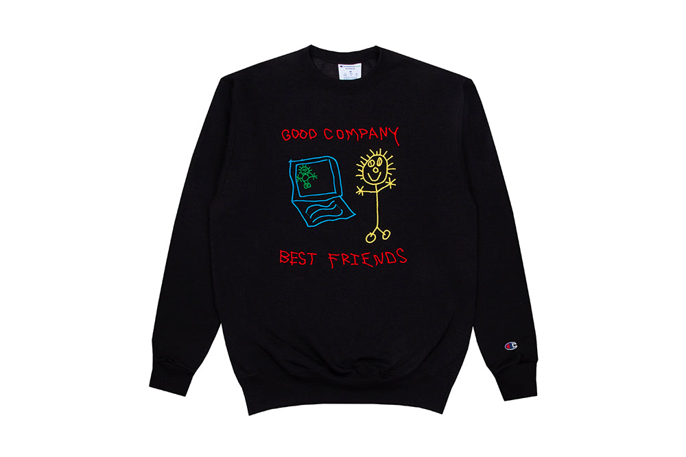 Best Friends Crewneck (Black / Multicolor)