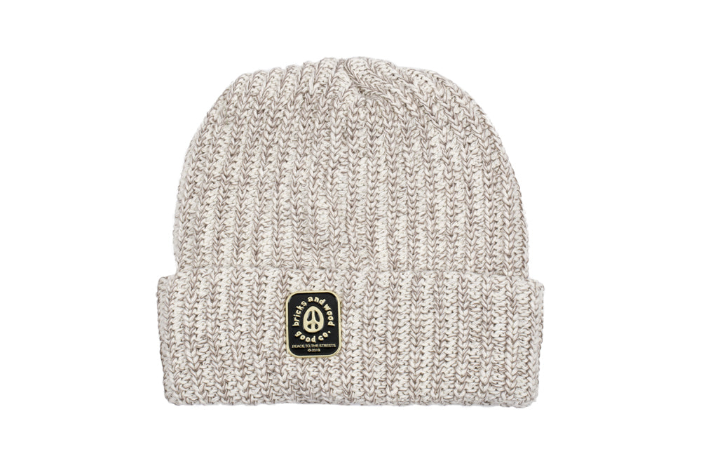 Peace To The Streets Beanie (oatmeal)