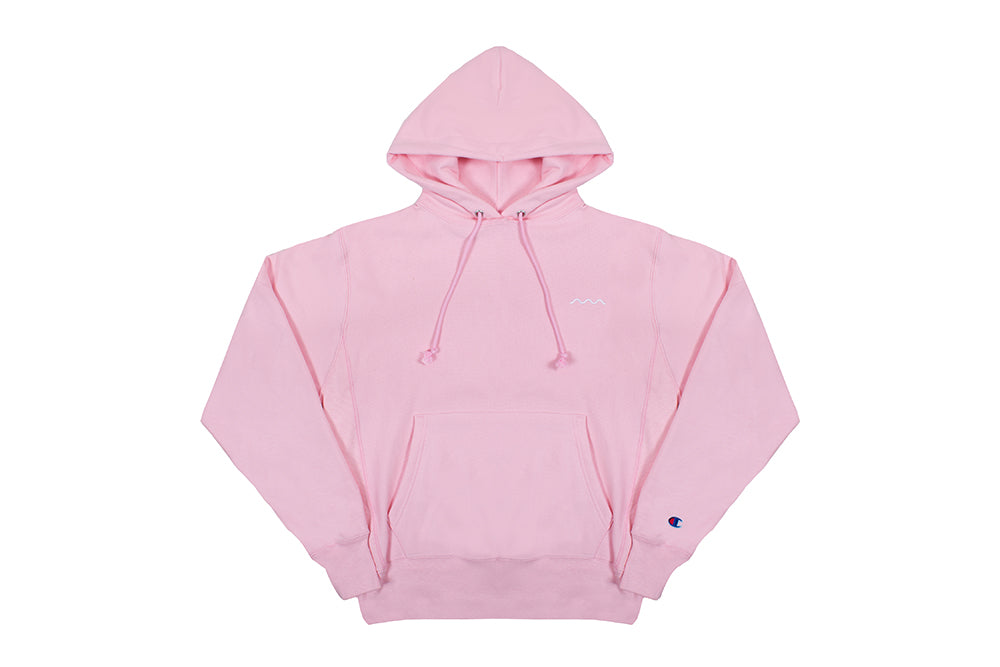 Chill Wave Reverse Weave® Hoodie (pink)