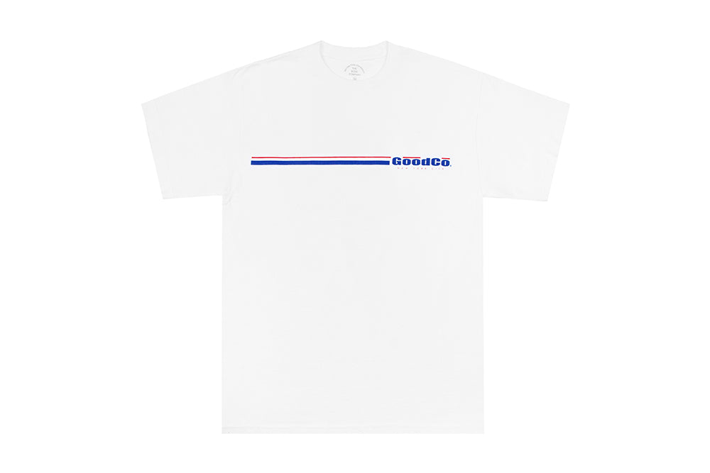 Thin Line Stripe Tee (white)