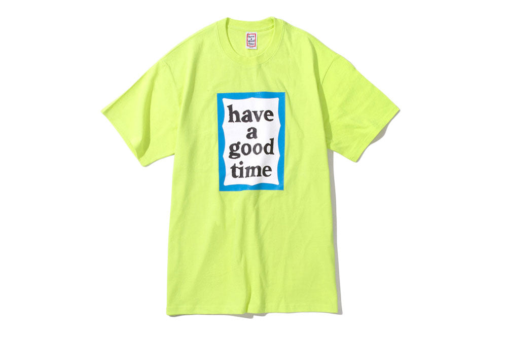 Have A Good Time Blue Frame Tee (neon green)