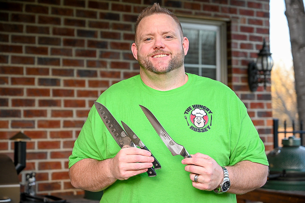 Matthew H. (thehungryhussey) poses with Dalstrong Knives