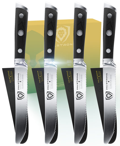 4-Piece Serrated Steak Knife Set | Gladiator Series | NSF Certified | Dalstrong ©