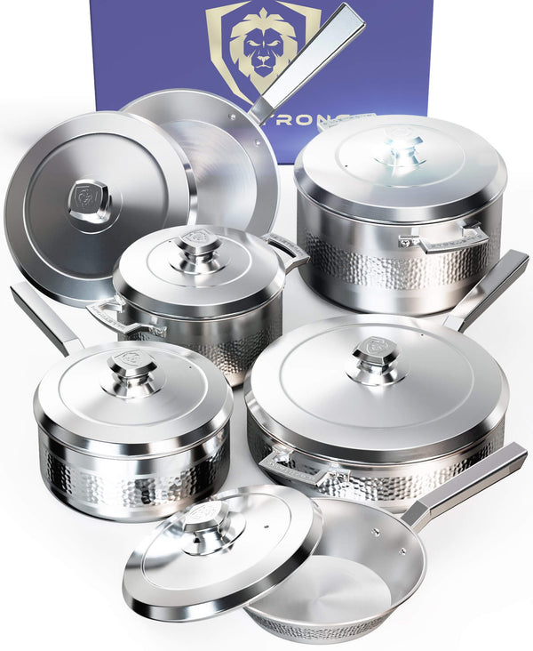 Avalon 12pc Silver Cookware Set