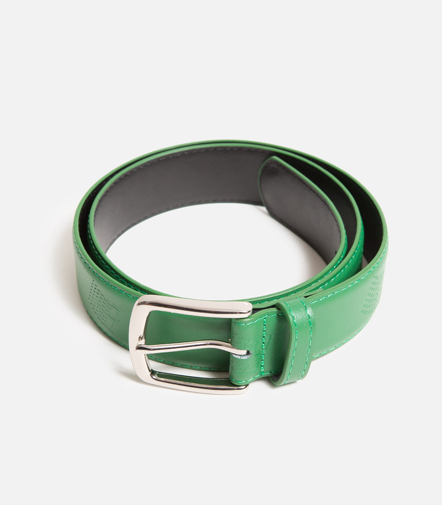 Bronze 56K B Logo Leather Belt