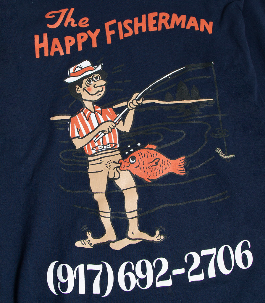 Call Me 917 Happy Fisherman Long Sleeve T-Shirt
