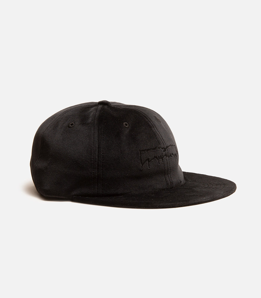 Fucking Awesome Outline Drip Velvet Unstructured Strapback Hat