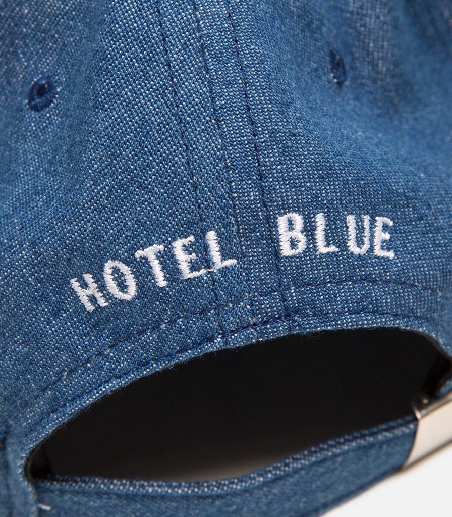 Hotel Blue Embroidered Arch Logo Hat