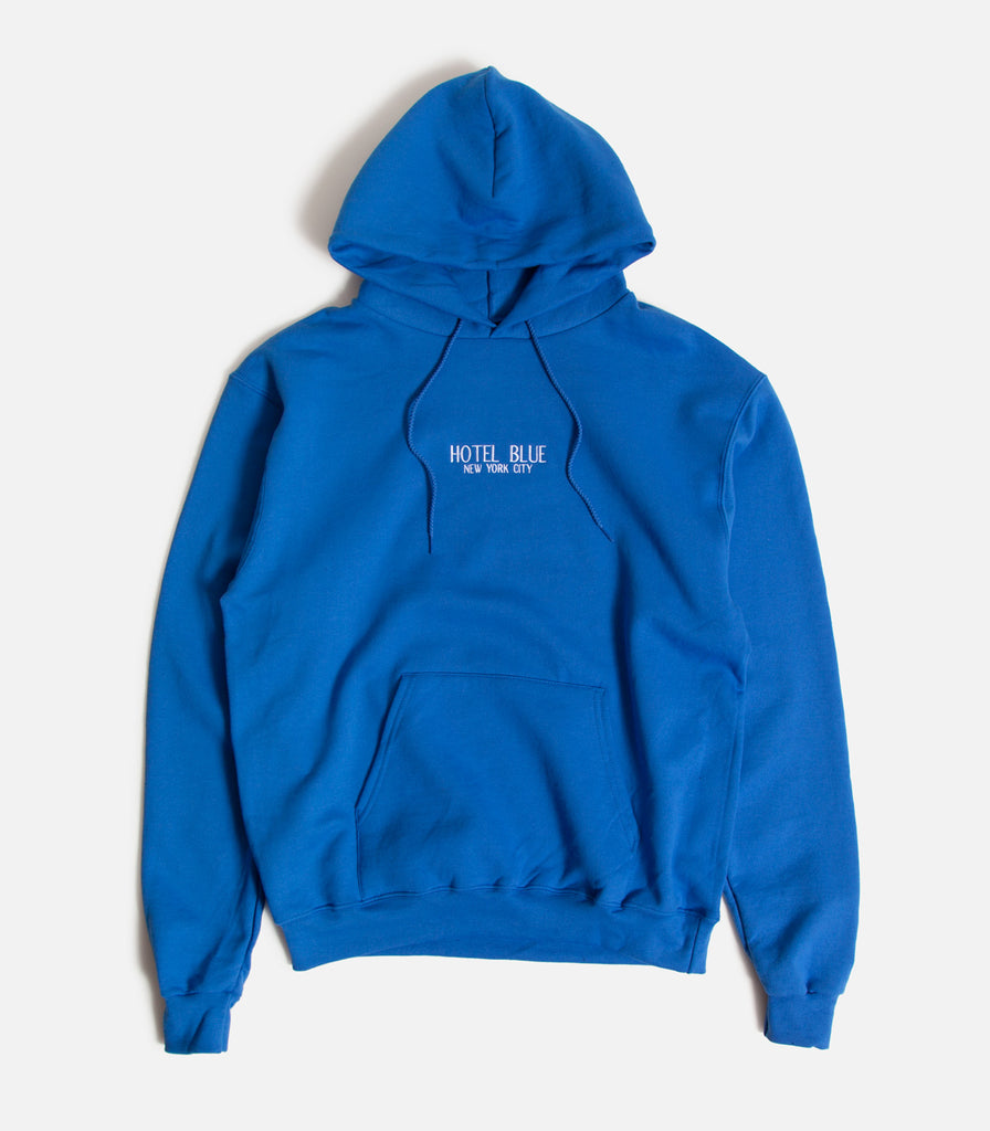 Hotel Blue Embroidered Logo Champion Pullover