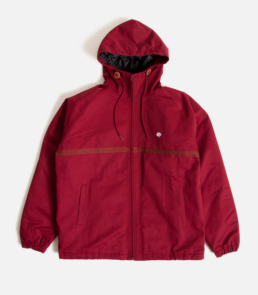 Magenta Hooded Coach Jacket