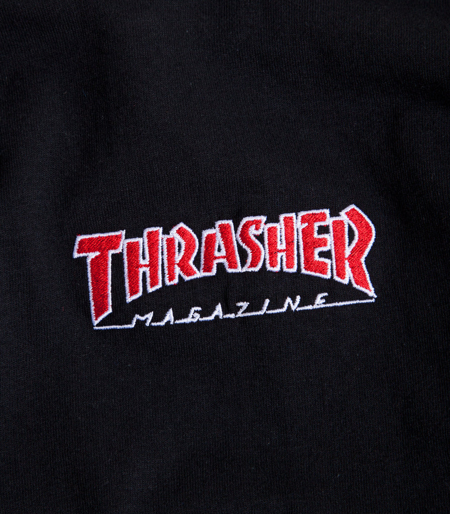 Thrasher Embroidered Outlined Long sleeve T-Shirt
