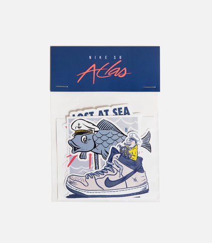 "Atlas X Nike SB ""Lost at Sea"" Sticker Pack"