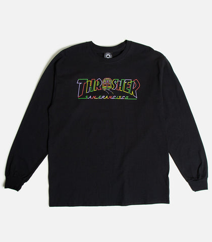 Thrasher Cable Car Long Sleeve T-Shirt