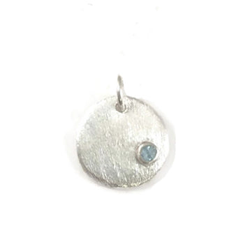 Sterling Birthstone Circle only - No chain