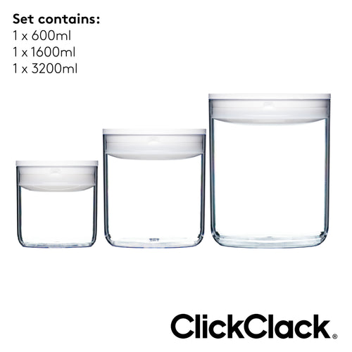 ClickClack® Pantry Round Set of 3