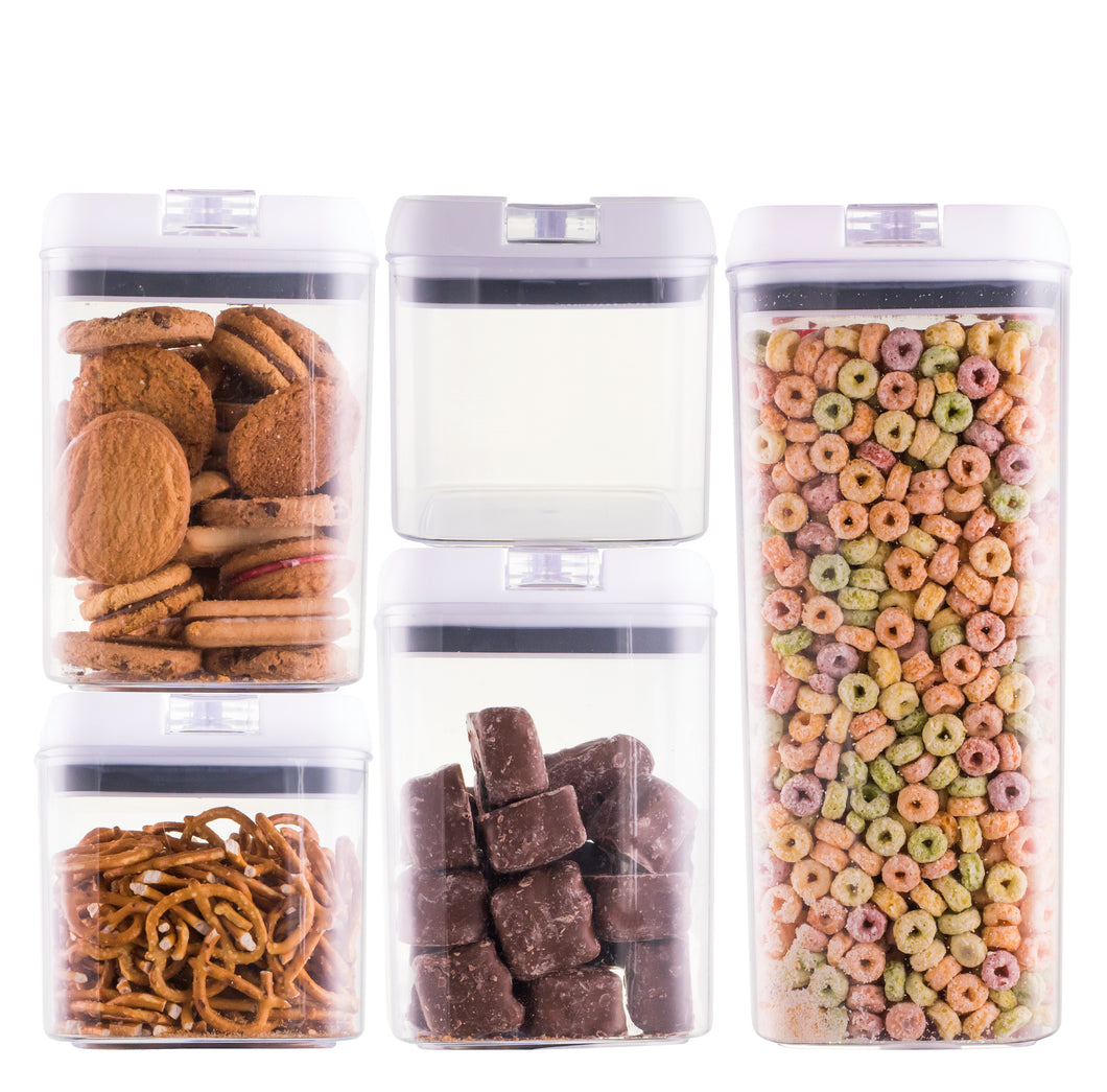 Avanti Flip Top Storage Containers - 5 piece set