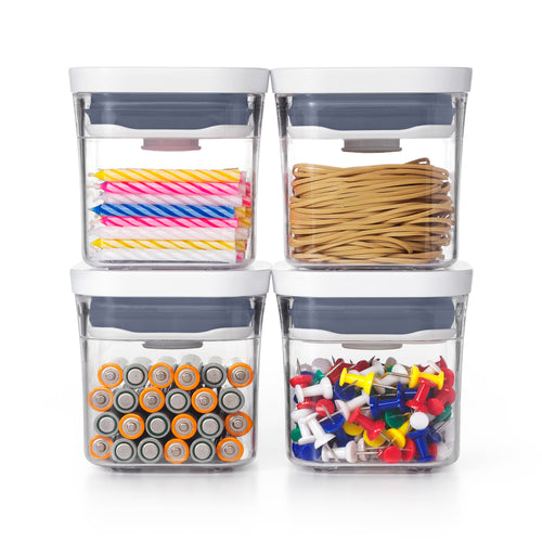 OXO Good Grips POP 2.0 Pantry Containers - 4 Piece Mini Set 200ml each