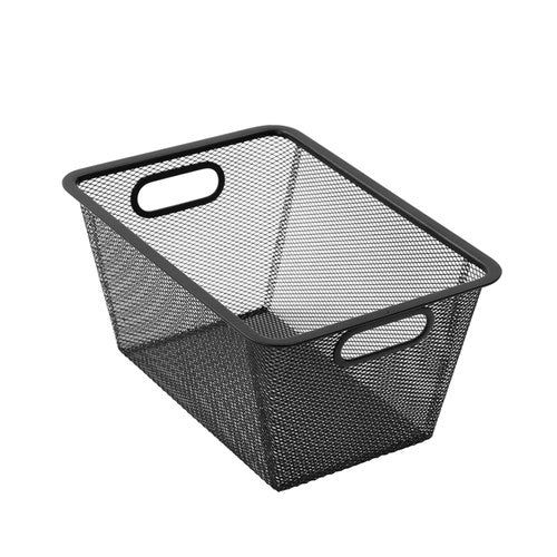 Mesh Storage Basket 23cm x 33cm x 16cm - Black