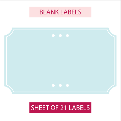 Blank pantry labels (21) - Classic Hamptons