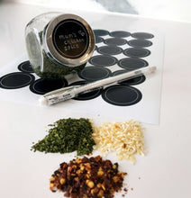 NEW - Blank spice jar labels (sheet of 24 labels)