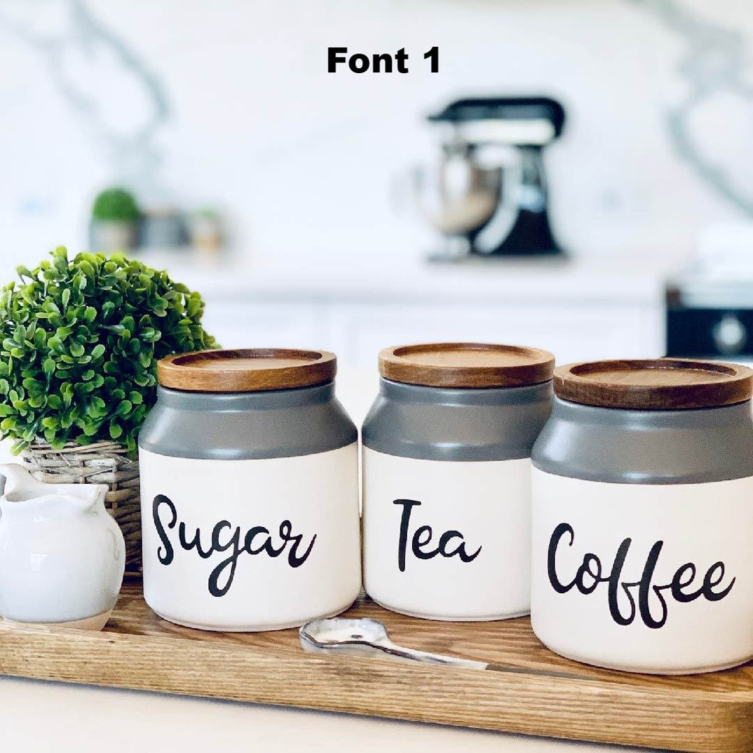 Coffee, Tea and Sugar Labels