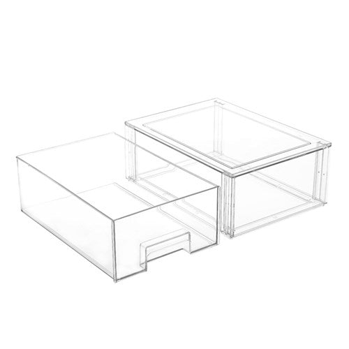 Crystal Stackable Organiser Drawer - 35 x 25 x 13.5cm - Large