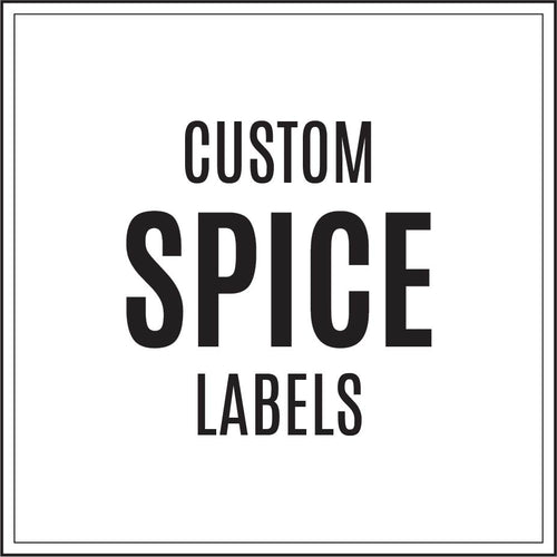 Custom Spice Jar Labels - all designs