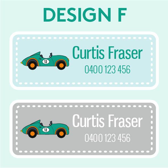 Name and Clothing Labels - Design F