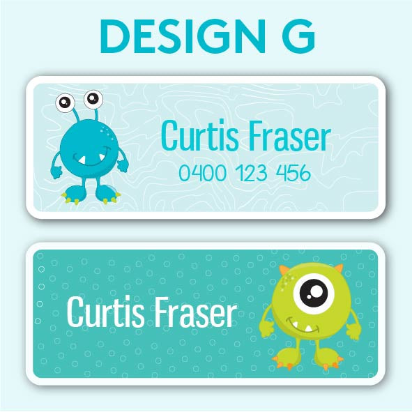 Name and Clothing Labels - Design G